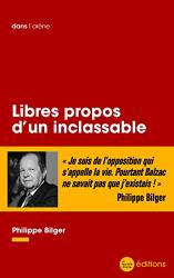 Bilger, Philippe: Libres propos d'un inclassable