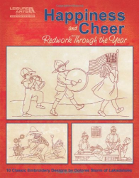 dolores storm: happiness and cheer, redwork through the year