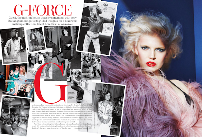 ALLURE MAGAZINE Ola Rudnicka, Nadja Bender & Mariana Santana in G-Force by Patrick Demarchelier. Paul Cavaco, September 2014, www.imageamplified.com, Image Amplified