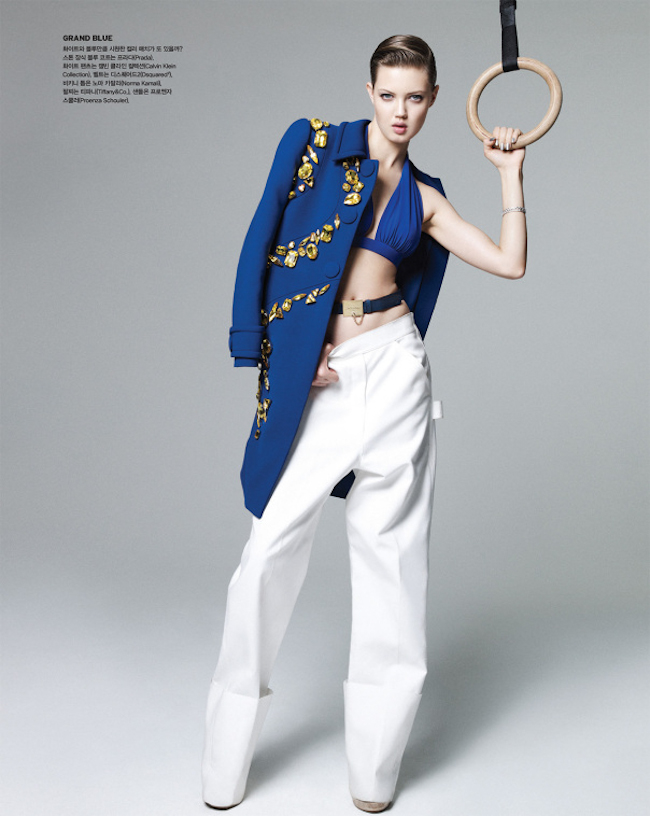 VOGUE KOREA Lindsey Wixson in Cool & Hot by Nagi Sakai. Aeri Yun, July 2014, www.imageamplified.com, Image Amplified