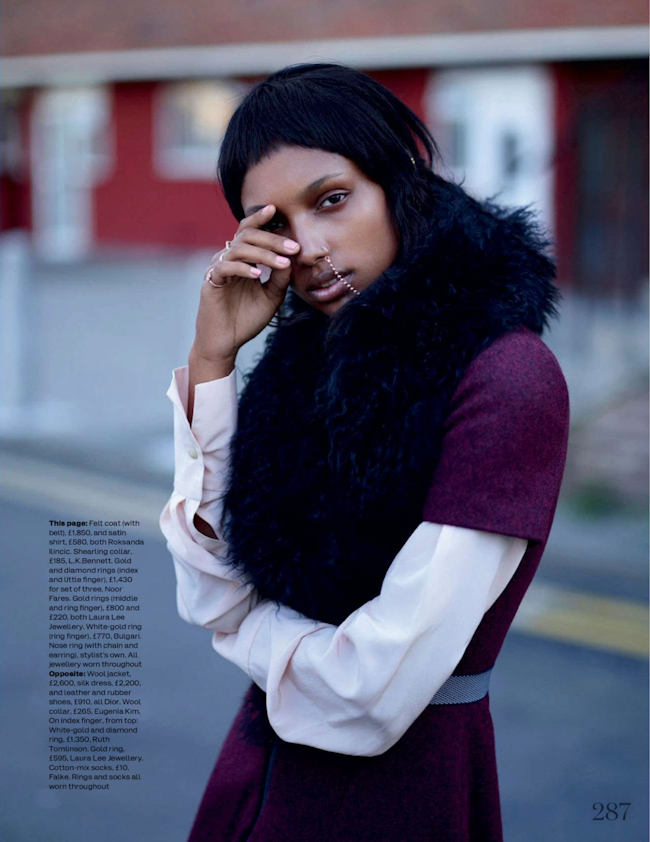 ELLE UK Jasmine Tookes in Super Bold by Thomas Whiteside. Anne-Marie Curtis, September 2014, www.imageamplified.com, Image Amplified