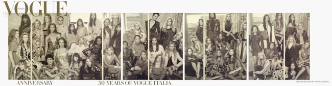 VOGUE ITALIA 50th Anniversary by Steven Meisel. Carlyne Cerf De Dudzeele, September 2014, www.imageamplified.com, Image Amplified