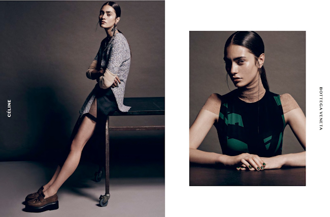 DANSK MAGAZINE Marine Deleeuw in Convoluted Convalescense by Thanassis Krikis. Thea Thunbo, Fall 2014, www.imageamplified.com, Image amplified