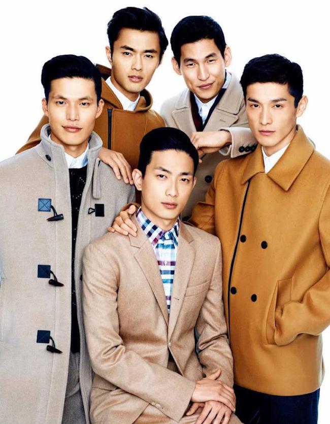 GQ TAIWAN Sung Jin Park, Daisuke Ueda, Dae Na, Zhao Lei & Jae Yoo in Asian New Era by Chiun-Kai Shih. Micah Johnson, October 2014, www.imageamplified.com, Image Amplified
