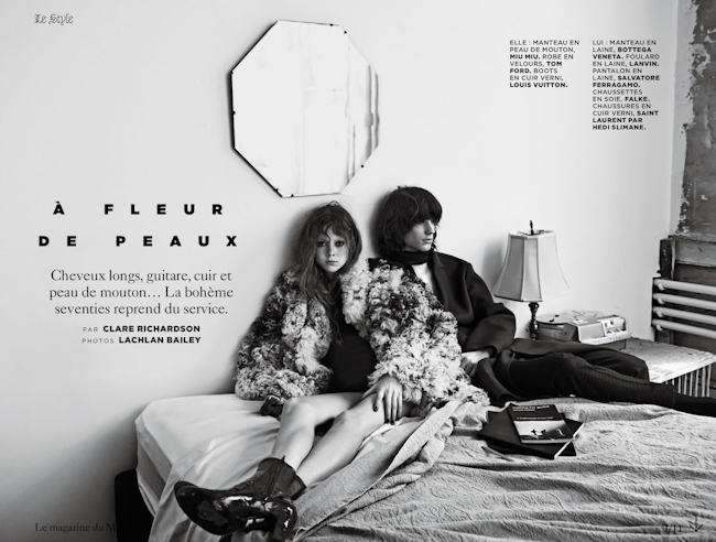 M LE MONDE Natalie Westling & Gabriel Marques in A Fleur De Peaux by Lachlan Bailey. Clare Richardson, October 2014, www.imageamplified.com, Image Amplified
