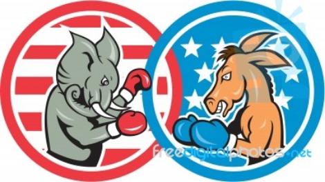 Boxing-democrat-donkey-versus-republican-elephant-mascot-100263327