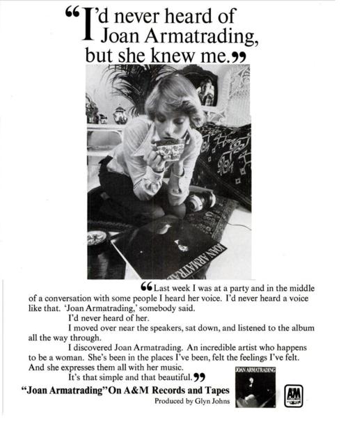 Id never heard of Joan Armatrading ad