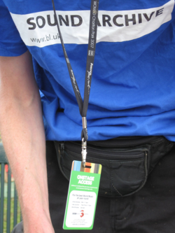 British Library team member at WOMAD
