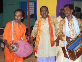 Fig 7 The Panjonia Kirtan team, third place in the Competition