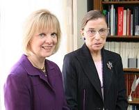 Justice Ginsburg and Lori Andrews