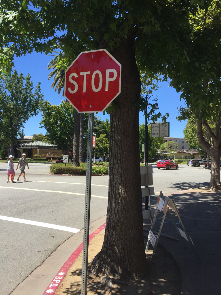 Library stop sign