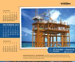December 2013 Golden Valve Desktop Calendar