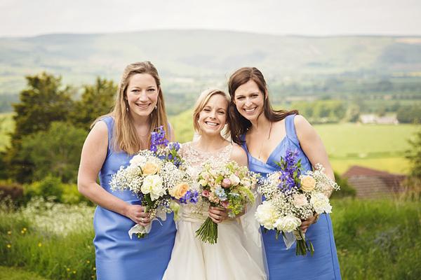Lyn Ashworth wedding dress, Cornflower blue wedding, rustic rural wedding, traditional wedding