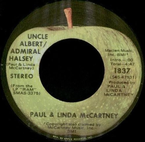 Paul & Linda McCartney - Uncle Albert/Admiral Halsey