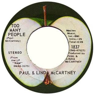 Paul & Linda McCartney - Too Many People