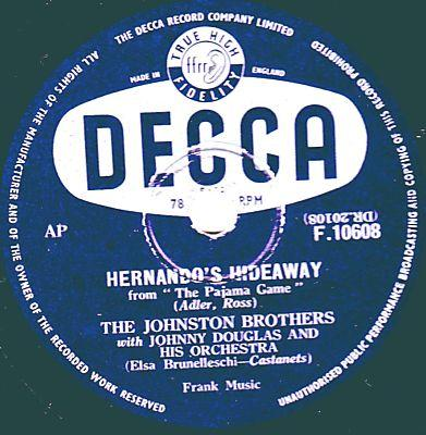 The Johnston Brothers - Hernando's Hideaway