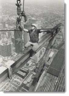 CN Tower construction, 1974