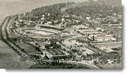 Aerial view of the Canadian National Exhibition, 1950