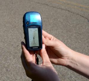 Handheld GPS unit