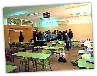 Estudiantes de 2º de Bachillerato del Instituto Público de Educación Secundaria 'Virgen del Castillo' de Lebrija (Sevilla)
