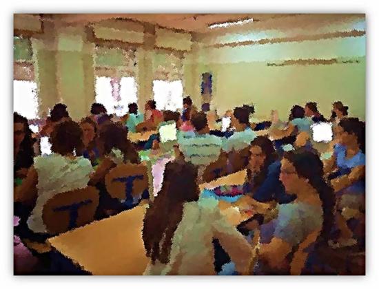 Grupo/clase de 2º de Bachillerato del Instituto Público de Educación Secundaria 'Virgen del Castillo' de Lebrija (Sevilla)
