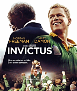"""Cartel de la película """"Invictus"""" de Clint Eastwood,"""