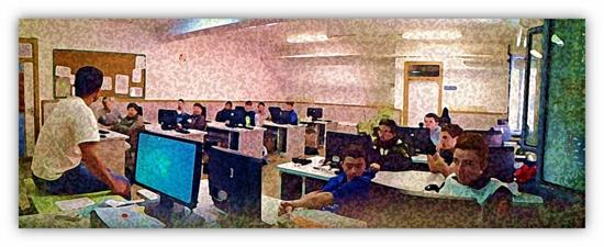 Grupo/clase del Programa de Cualificación Profesional Inicial (PCPI) del IES 'José Rodríguez Botet'