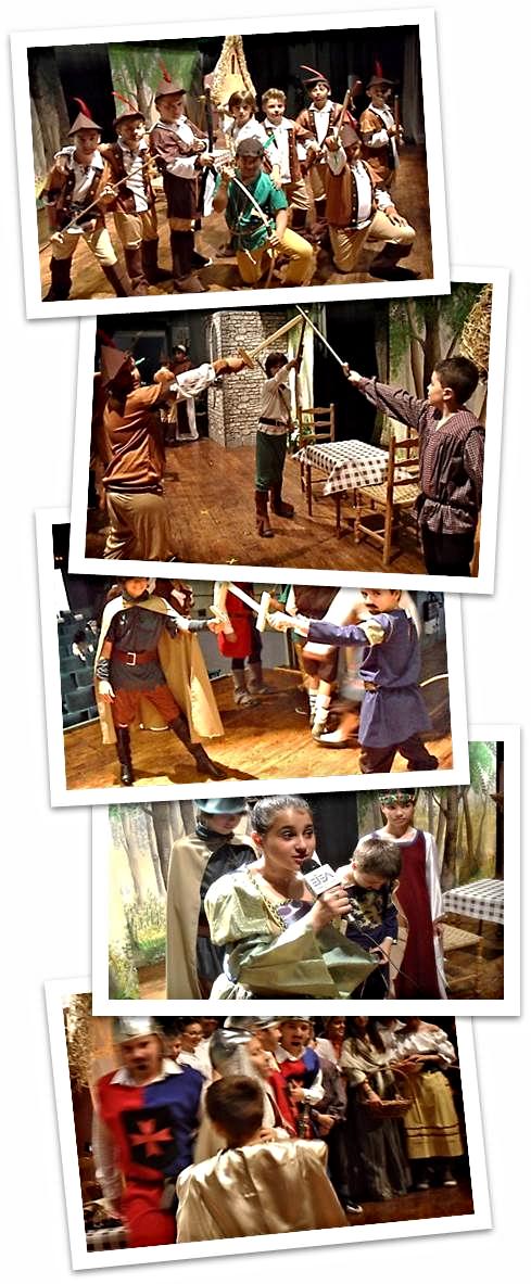 """Nuestro proyecto: La representación de una obra sobre """"Robin Hood"""":"""