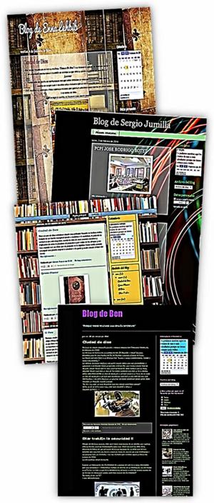 Cada estudiante crea su blog, editado y personalizado hasta el punto de que algunos llegaron, incluso, a retocar el código de su página