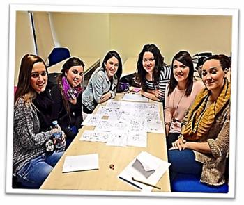 Grupo de trabajo nº 1. Estudiantes universitarias. Segundo de Magisterio. Facultad de Educación (Universidad de Murcia).