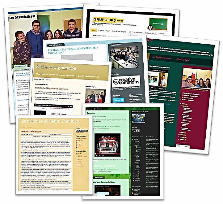 Los estudiantes universitarios abrieron blogs de equipos para mostrar al alumnado de primaria su trabajo