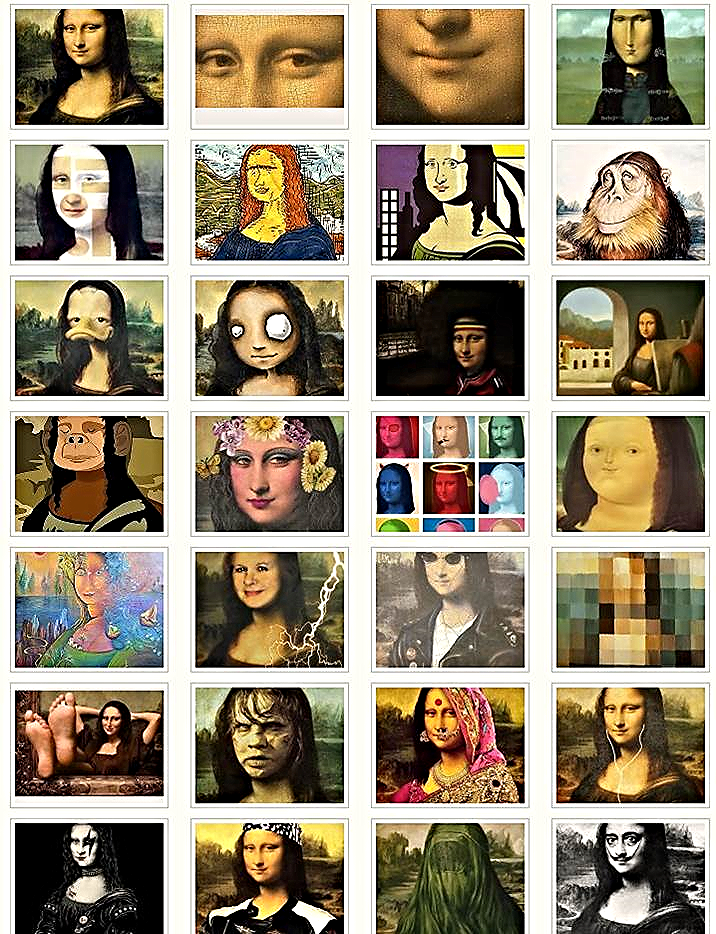 """ILUSTRACIÓN: """"Interpretaciones de la Gioconda"""" en Flickr de manuleica bajo licencia CC."""