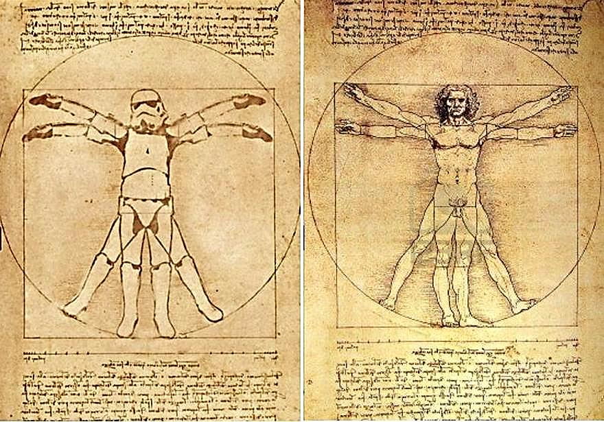 ¿Si Leonardo da Vinci trabajase como asesor artístico para George Lucas en su saga de la Guerra de las Galaxias?