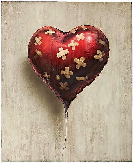 El globo corazón herido | Banksy
