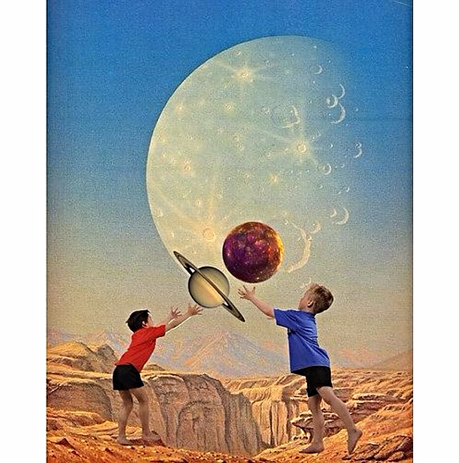 Let them enjoy the magic, let them believe in other planets | Deger Bakir collages