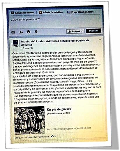 Desde el Muséu del Pueblu d'Asturies nos15.06 Facebook mostraron su satisfacción por el trabajo