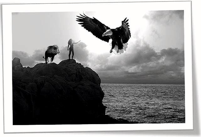 """""""Mi sueño"""" de Clara María Villalba estudiante de la asignatura Dibujo Artístico II  en el Instituto de Enseñanzas a Distancia de Andalucía (IEDA), que experimenta con el fotomontaje digital o analógico y los filtros artísticos de GIMP."""