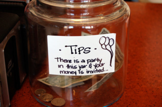 Tip jar party