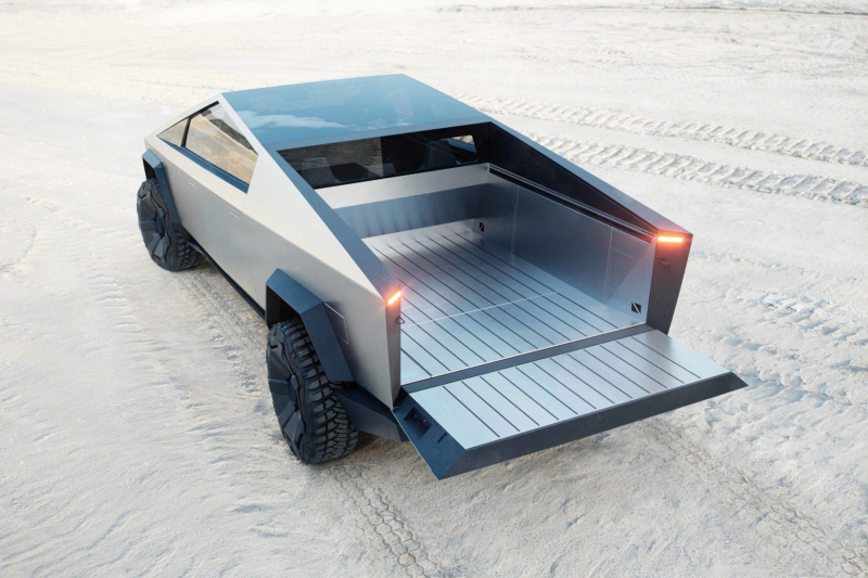 Tesla Cybertruck Vault With Tailgate Down