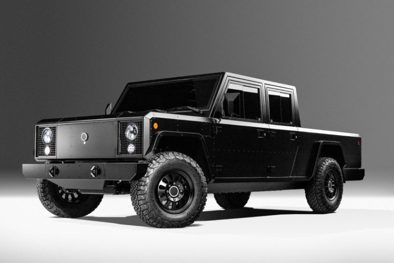 Bollinger B2 Pickup Truck Front Angle Profile