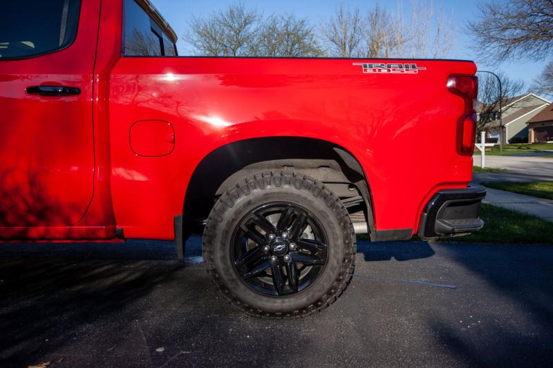 2020 Chevrolet Silverado 1500 Bed Profile