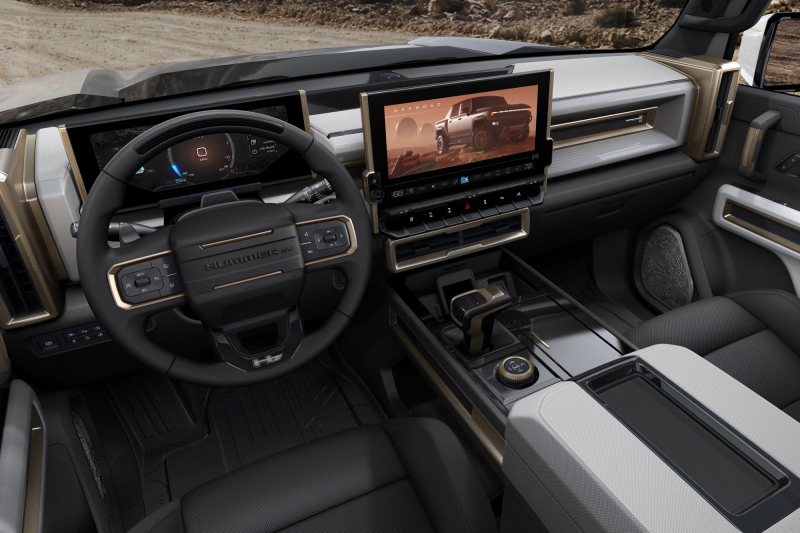 2022 GMC Hummer EV UltraVision Display In Dashboard