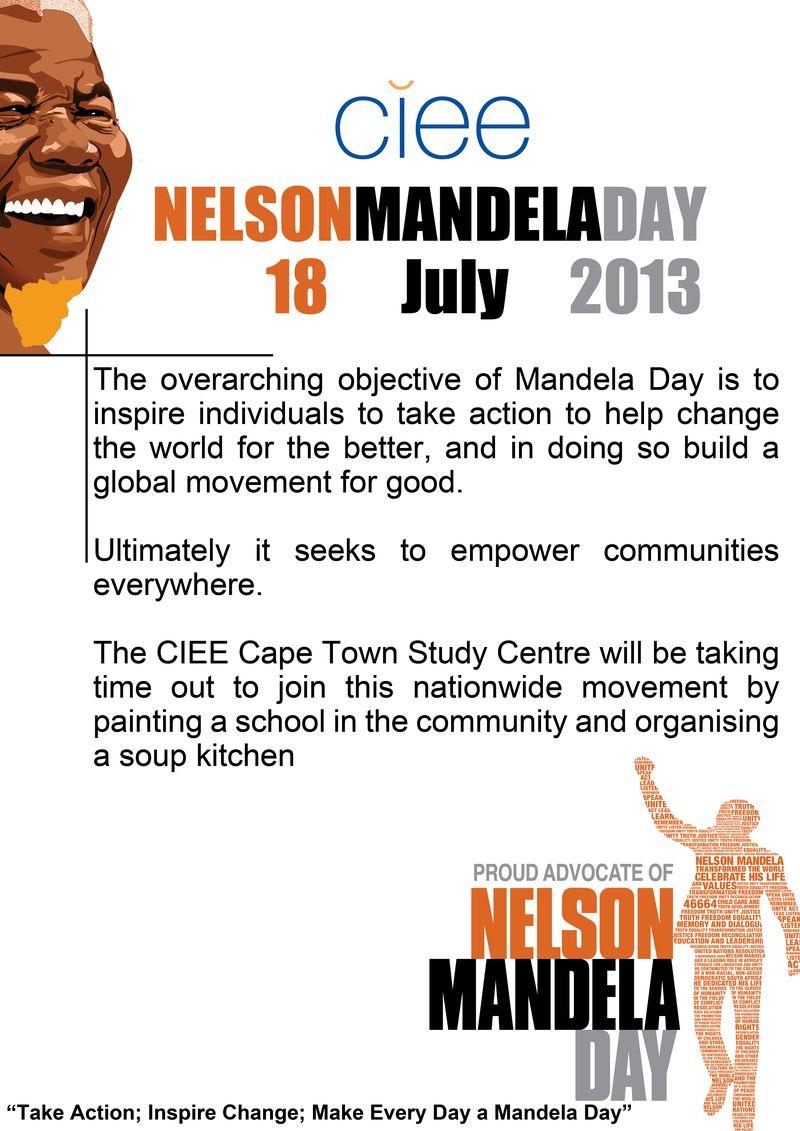 Mandela Day A3 poster
