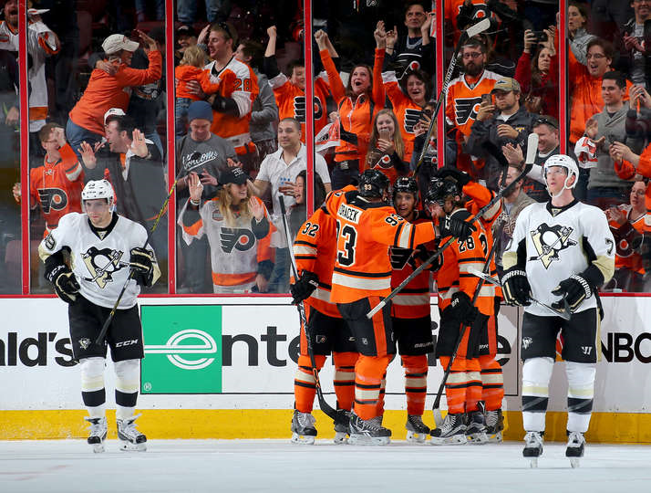 Flyers Own Penguins