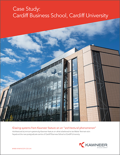 Kawneer case study on Wales' first building with a twin-skin facade