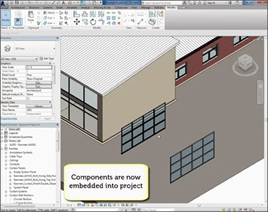 Kawneer BIM model instructional video provides step by step guidance