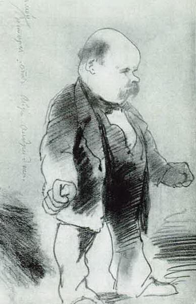 Cartoon of Shevchenko 'in awe before Aldridge'