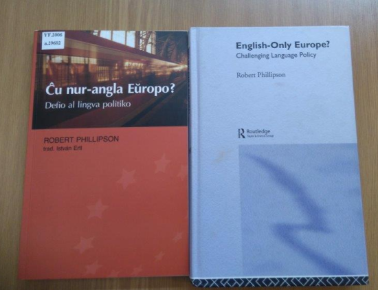 Covers of 'Ĉu nur-angla Eŭropo?' and 'English-only Europe'