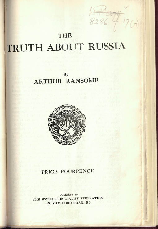 Ransome Truth about Russia