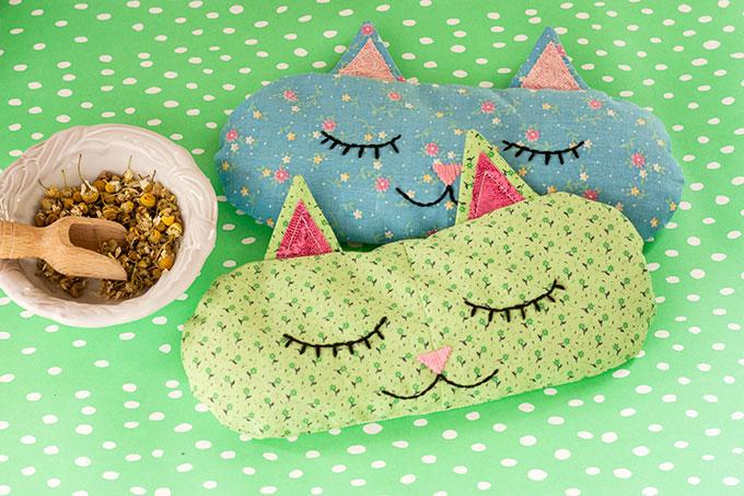 """""""Cat Nap"""" Eye Pillows"""